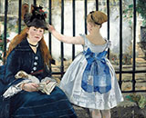 Gare Saint Lazare - Edouard Manet reproduction oil painting