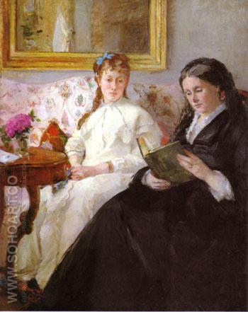 The Mother and Sister of the Artist 1869 - Berthe Morisot reproduction oil painting