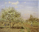 Orchard in Bloom Louveciennes - Camille Pissarro reproduction oil painting