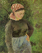 Peasant Woman 1880 - Camille Pissarro reproduction oil painting