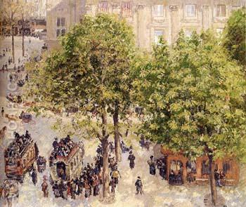 Place du Theatre-Francais Spring - Camille Pissarro reproduction oil painting