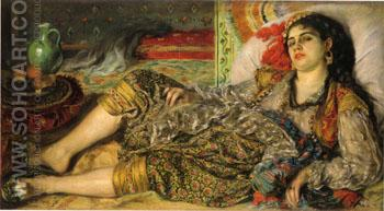 Odalisque 1870 - Pierre Auguste Renoir reproduction oil painting