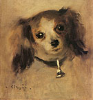 Head of a Dog 1870 - Pierre Auguste Renoir reproduction oil painting
