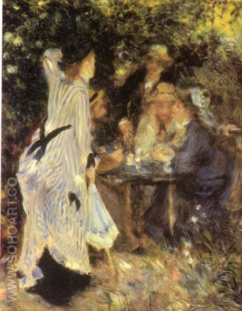 In the Garden Under the Trees of the Moulin de la Galette - Pierre Auguste Renoir reproduction oil painting