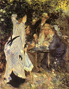 In the Garden Under the Trees of the Moulin de la Galette - Pierre Auguste Renoir