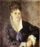 Lady in Black 1876 - Pierre Auguste Renoir reproduction oil painting