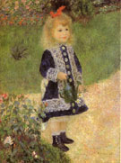 A Girl with a Watering Can 1876 - Pierre Auguste Renoir reproduction oil painting