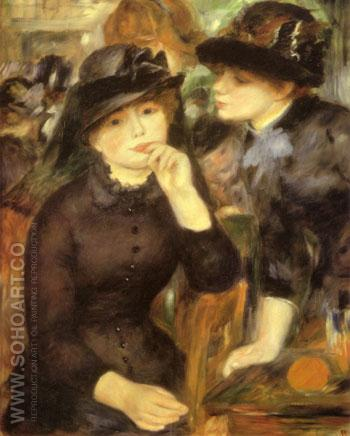 Girls in Black 1880 - Pierre Auguste Renoir reproduction oil painting