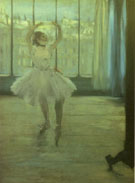 Dancer Posing for a Photographer aka Dancer Before the Window 1874 - Edgar Degas reproduction oil painting
