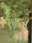 Dancers Backstage 1890 - Edgar Degas reproduction oil painting
