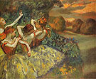 Four Dancers 1899 - Edgar Degas reproduction oil painting