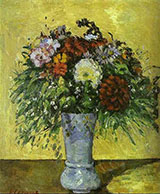 Flowers in a Blue Vase 1873 - Paul Cezanne reproduction oil painting