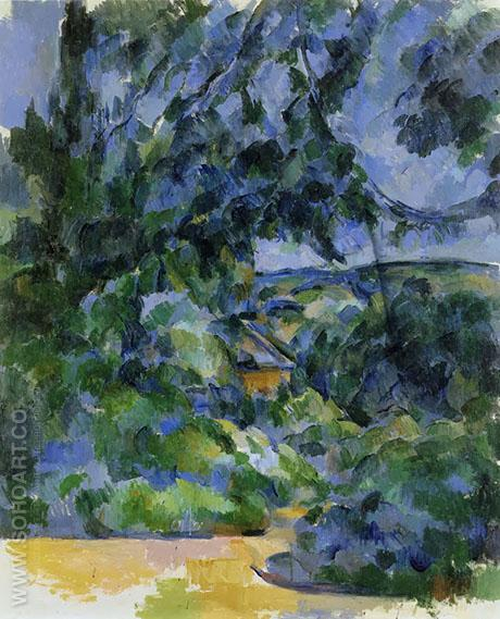 Blue Landscape 1904 - Paul Cezanne reproduction oil painting