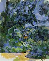 Blue Landscape 1904 - Paul Cezanne reproduction oil painting