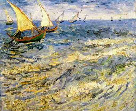 Seascape at Saintes-Marie - Vincent van Gogh reproduction oil painting