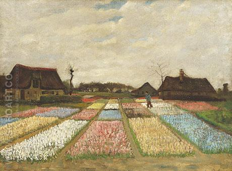 Flower Beds in Holland - Vincent van Gogh reproduction oil painting