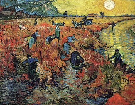 The Red Vineyard Arles 1888 - Vincent van Gogh reproduction oil painting