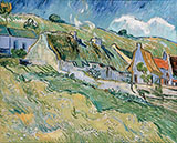 Cottages 1890 - Vincent van Gogh reproduction oil painting