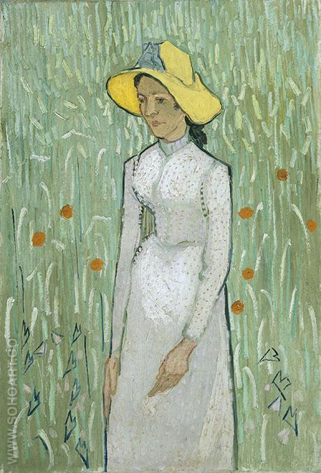 Girl in White 1890 - Vincent van Gogh reproduction oil painting