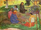 Conversation (Les Parau Parau) - Paul Gauguin reproduction oil painting