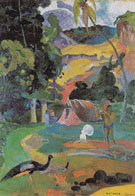 Landscape with Peacocks (Matamoe) 1892 - Paul Gauguin