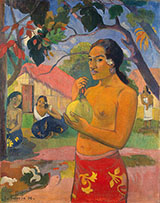 Woman Holding a Fruit Where are you Going (Eu haere ia oe) - Paul Gauguin reproduction oil painting