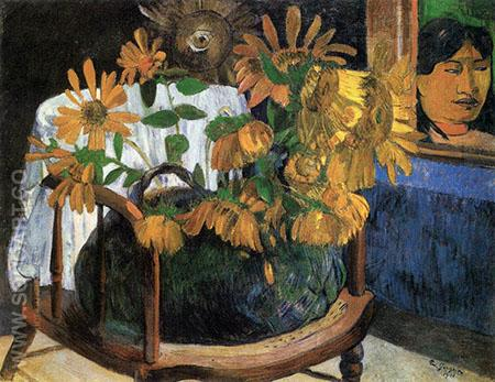 Sunflowers 1901 - Paul Gauguin reproduction oil painting