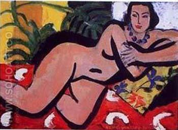 Nude with Blue Eyes - Henri Matisse reproduction oil painting