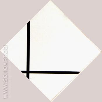 Lozenge Composition with Two Lines 1931 - Piet Mondrian reproduction oil painting