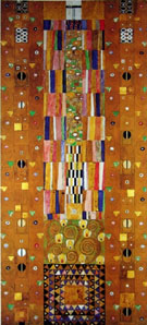 Stoclet Frieze Patterns - Gustav Klimt reproduction oil painting