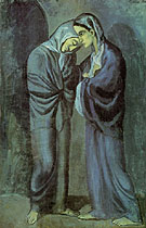 The Visit (Two Sisters) 1902 - Pablo Picasso reproduction oil painting