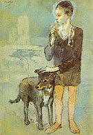 Boy with Dog 1905 - Pablo Picasso reproduction oil painting