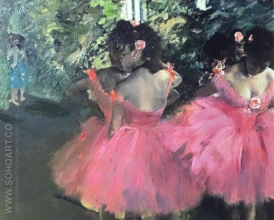 Dancers in Pink c1880 - Edgar Degas reproduction oil painting