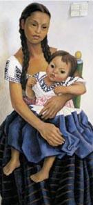 Portrait of Delfina Flores - Diego Rivera