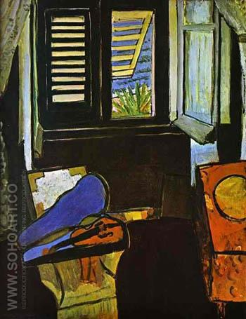 Interior with Violin 1917 - Henri Matisse reproduction oil painting
