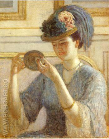 Reflections c 1908 - Frederick Carl Frieseke reproduction oil painting