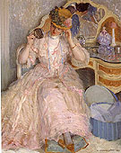 Lady Trying on a Hat 1909 - Frederick Carl Frieseke reproduction oil painting