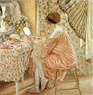 Before Her Appearance La Toilette 1913 - Frederick Carl Frieseke reproduction oil painting
