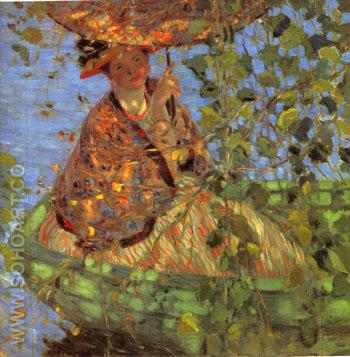 Through the Vines 1908 - Frederick Carl Frieseke reproduction oil painting