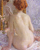 Reflections (Marcelle) 1909 - Frederick Carl Frieseke reproduction oil painting