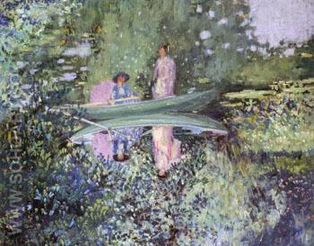 Gray Day on the River 1909 - Frederick Carl Frieseke reproduction oil painting