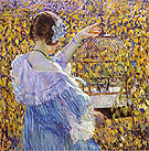 The Bird Cage 1910 - Frederick Carl Frieseke reproduction oil painting