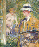 Portrait of Frieseke 1910 - Frederick Carl Frieseke reproduction oil painting