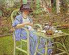 Breakfast in the Garden 1911 - Frederick Carl Frieseke reproduction oil painting