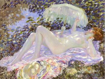 Venus in the Sunlight 1913 - Frederick Carl Frieseke reproduction oil painting