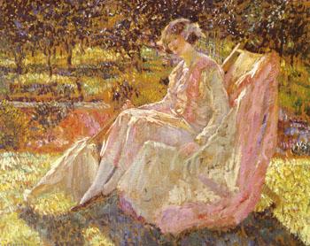 Sunbath 1914 - Frederick Carl Frieseke reproduction oil painting