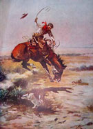 Bronco - Frederic Remington reproduction oil painting
