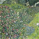Italian Garden Landscape 1913 - Gustav Klimt reproduction oil painting