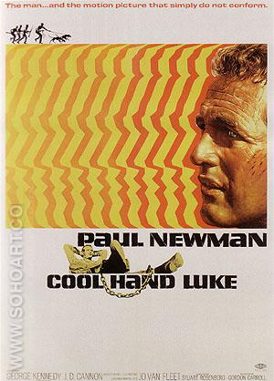 COOL HAND LUKE, STUART ROSENBERG, 1967 - Classic-Movie-Posters reproduction oil painting