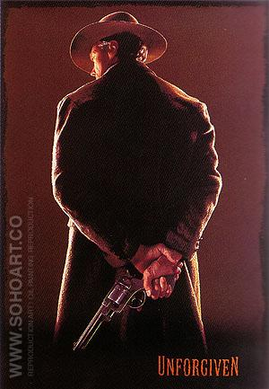 UNFORGIVEN, CLINT EASTWOOD, 1992 - Classic-Movie-Posters reproduction oil painting
